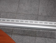 Drilled Aluminium profile for shelf support structures
